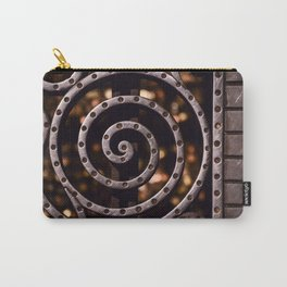 Elegant Iron Screen Detail Carry-All Pouch