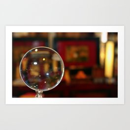 Magnifying Glass Art Print