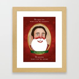 Jolly Ol' St. Nicolas Framed Art Print