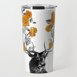 The Stag and Roses | Orange Travel Mug