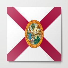Flag of Florida-floridian,floridan,Miami,Tempa,Orlando,hispanic,beach,sun,jacksonville,holidays,warm Metal Print
