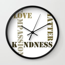 Love kindness compass Wall Clock