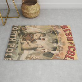 North Pole Fresh and Cold Lager Beer Rug