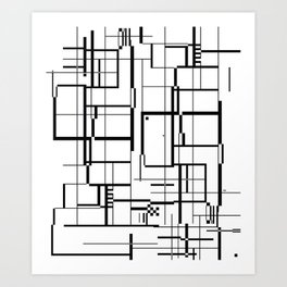 minima Maze. Art Print