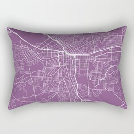 Syracuse Map, USA - Purple Rectangular Pillow