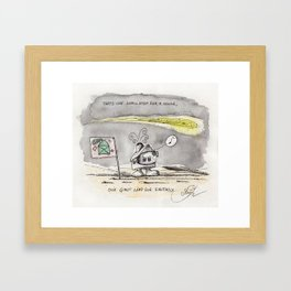 House on the moon Framed Art Print