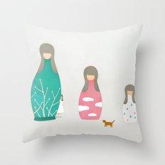 Matryoshka Throw Pillow