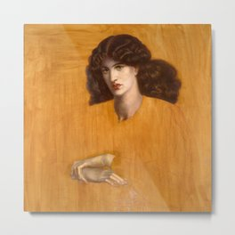 Dante Gabriel Rossetti, The Lady of Pity, 1881 Metal Print