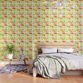 colorful citrus fruit watercolor Wallpaper