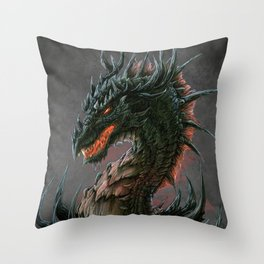 Regal Dragon Throw Pillow