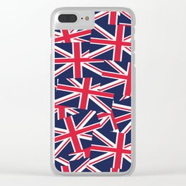 Union Jack Flags Clear iPhone Case