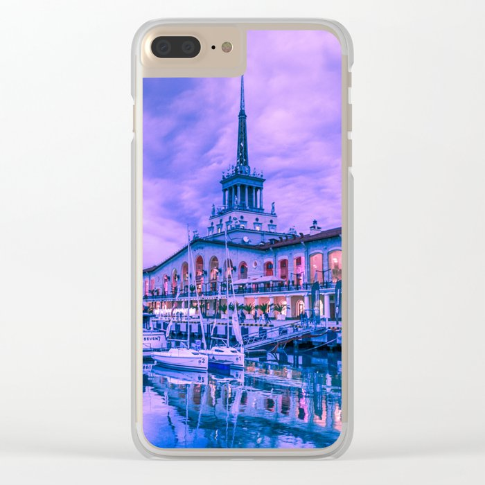 Marine station of Sochi Clear iPhone Case