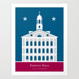 America: Faneuil Hall Art Print