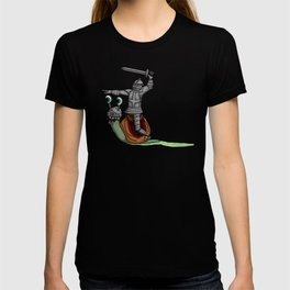 The snail and the Knight T-shirt