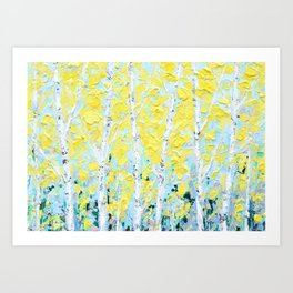 New England Paper Birch Art Print