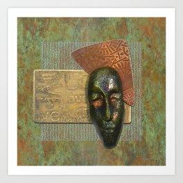 #4 Face & Metal Digital Collage Art Print