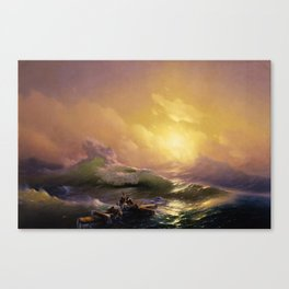 The Ninth Wave Landscape Masterpiece by Ivan Aivazovsky Canvas Print