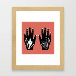 Bird in Hand Framed Art Print