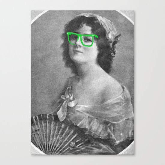 Josephine is a Hipster Canvas Print