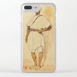 "Eugène Delacroix ""A standing Moroccan"" Clear iPhone Case"