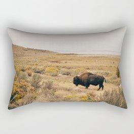 Bison Bull on Antelope Island Rectangular Pillow
