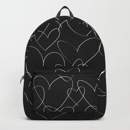 wild hearts black and white Backpack