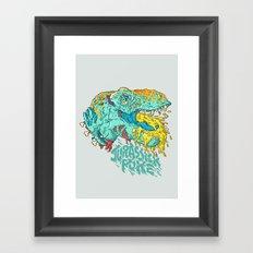 Jurassick Puke Framed Art Print