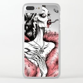 Decadence & Decay Clear iPhone Case