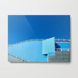 Blue Scenic Railway Metal Print