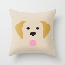 Golden Retriever Dog Illustration Throw Pillow