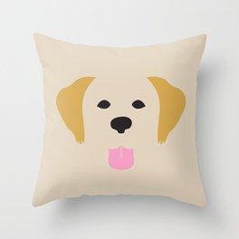 Golden Retriever Dog Illustration Throw Pillow