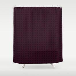 Dark Merlot Wine Circle Pattern Shower Curtain