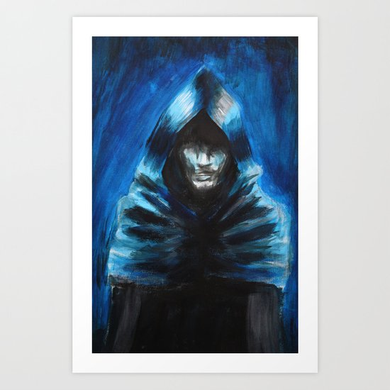 The Hooded One Art Print