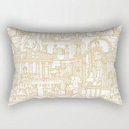 Ancient Greece gold white Rectangular Pillow