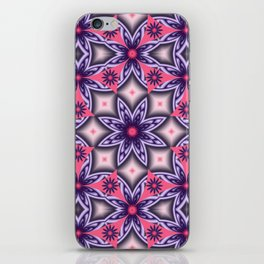 Flowers and Diamonds in purple and Pink iPhone Skin