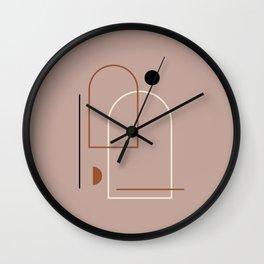 Boho Decor, Modern Geometric Shapes Wall Clock