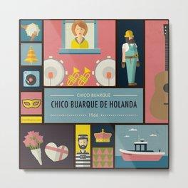 """""""Chico Buarque de Holanda"""" -  Chico Buarque Metal Print"""