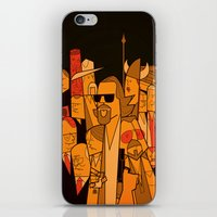 hats iPhone & iPod Skins featuring The Big Lebowski by Ale Giorgini