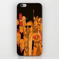 lebowski iPhone & iPod Skins featuring The Big Lebowski by Ale Giorgini