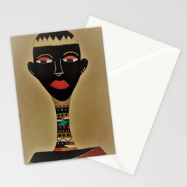 Ebony and Ivory Crown Stationery Cards