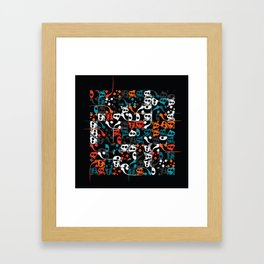 Contemporary Persian Calligraphy - Composition with letter Vave, Mim & Hea Framed Art Print