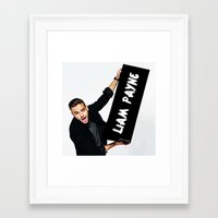 liam payne Framed Art Prints featuring Liam Payne by girllarriealmighty