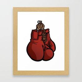 Boxing Gloves Illustration Framed Art Print