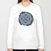 blueprint Long Sleeve T-shirts featuring Natural Blueprint by DebS Digs Photo Art