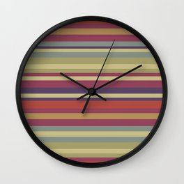 Pastel Colors Stripes Wall Clock