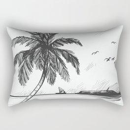 Beach graphic sketch art Rectangular Pillow