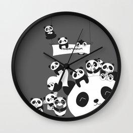 Panda party Wall Clock