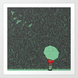 rain falls Art Print