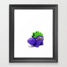 Happy Purple Dinosaur Framed Art Print