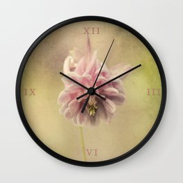 Columbine in LOVE Wall Clock